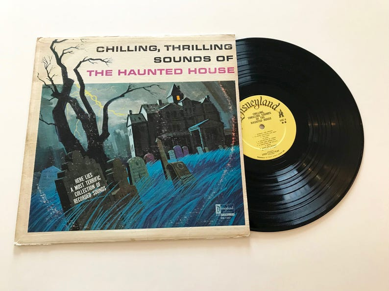 HALLOWEEN Vintage Disneyland Lp Sixties Vinyl Record Scary Spooky Haunted  House
