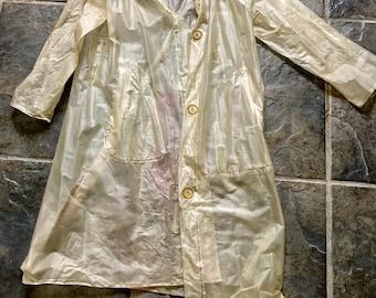 60s Clear Raincoat