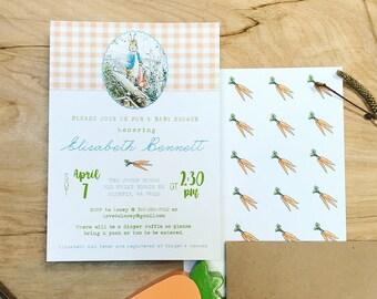 Peter Rabbit Printable Invitation I Custom made I Baby Shower I Party Invites