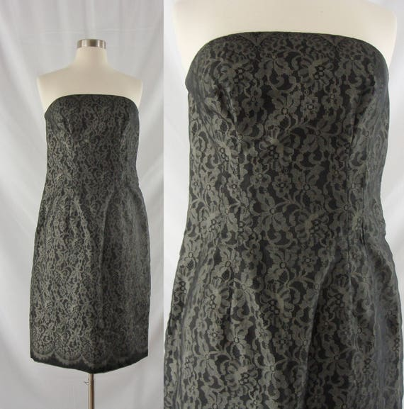 Vintage Sixties Dress 1960s Strapless