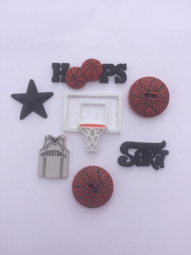 Basketball Magnets Set Of Seven Basketball Theme Magnets Sports Magnets Team Magnets Coach Gift