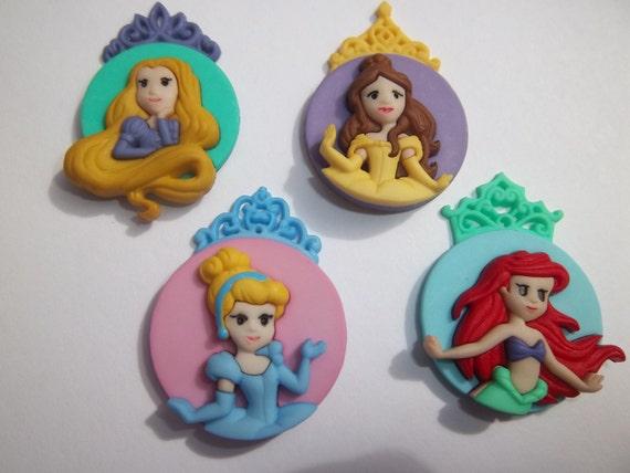 Disney Princess Shank Back Buttons Frozen Mickey Minnie Ariel Cinderella Aurora