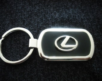 Genuine LEXUS RC Keyring Black Leather With RC Engraved Alloy Plate