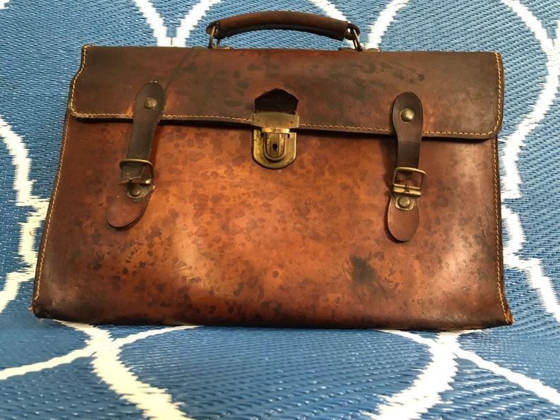Vintage Leather Distressed Briefcase