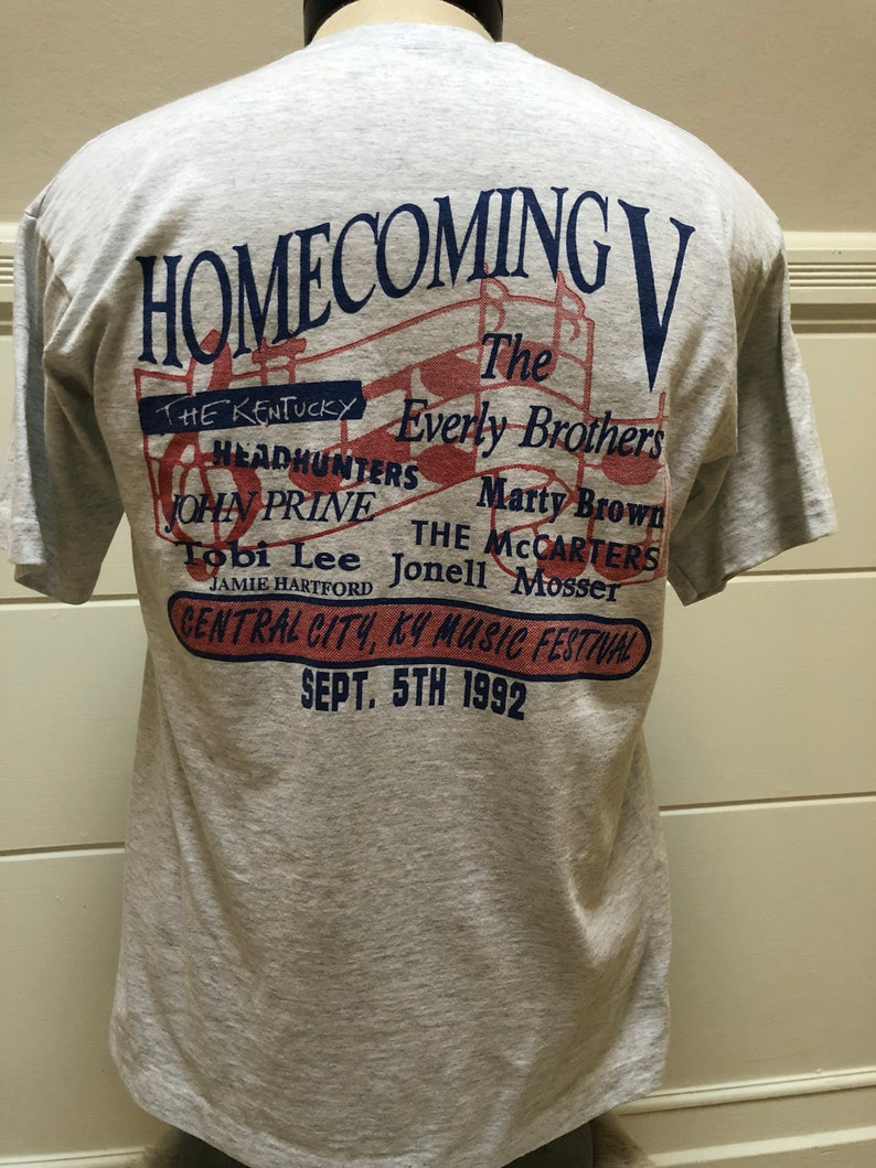 Vintage 1992 Everly Brothers Homecoming Music Festival Tshirt