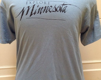 Vintage 1980s Blue Minnesota T shirt XL