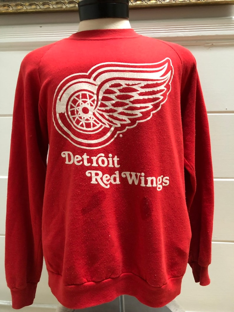 new concept 4b585 ec981 Vintage 80s Swingster Detroit Redwings Sweater