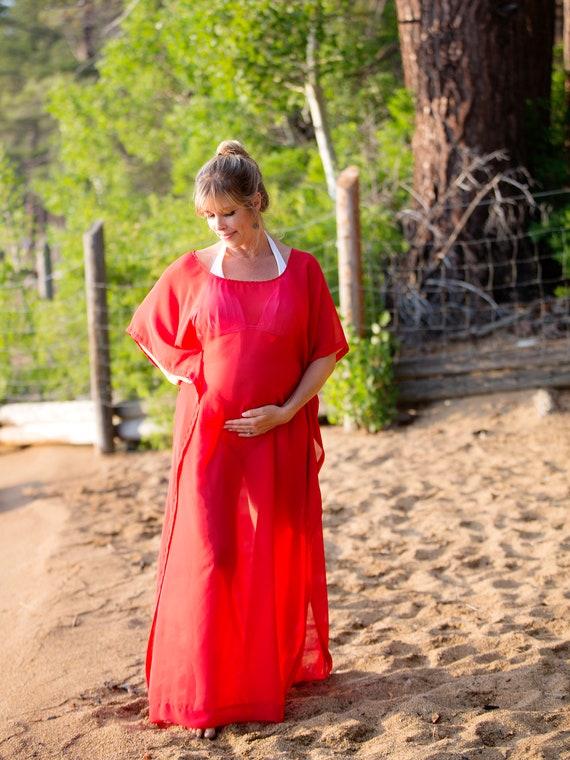 Maternity Beach Cover Up Custom Length Kaftan Swimsuit Etsy