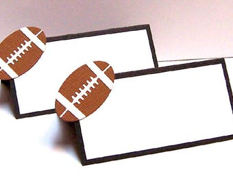 Set of 10 Football Place Cards