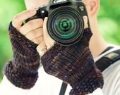 """KNITTING PATTERN for """"Photographer's Friend"""" Fingerless Gloves for men and women"""