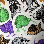 Bird Stickers - Owls, Quails, Pelican Pelicopter Vinyl Stickers