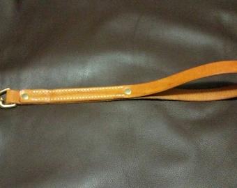 Sewn Leather Dog Tag Lead Leash