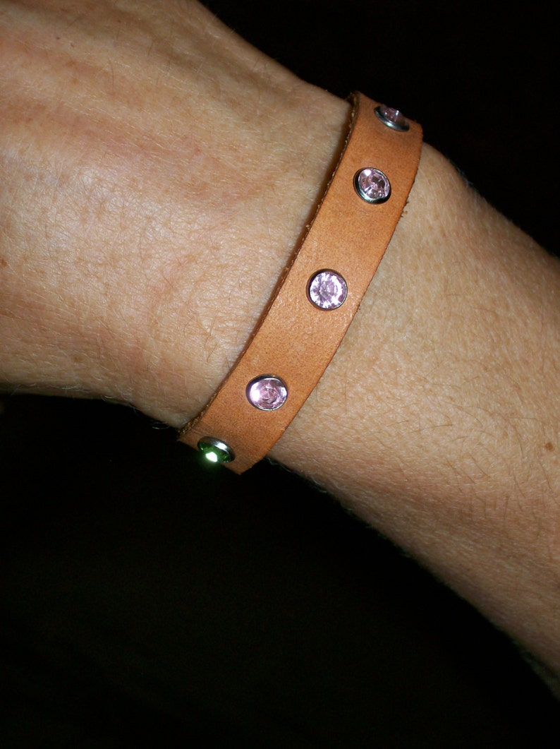 Jeweled Leather Bracelet image 0