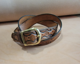 """Hand Made 1-1/2"""" Wide Leather Belt"""