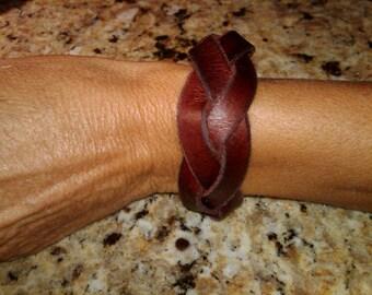 Leather Braided Bracelet - Mystery Braid Version