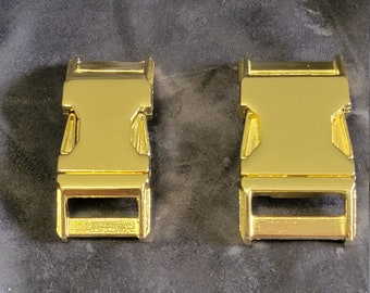 Zinc Cast Alloy Side Release Buckles - Polished Brass - SECONDS (Cosmetic)