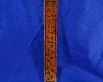 Leather Bookmark - Indian Symbols