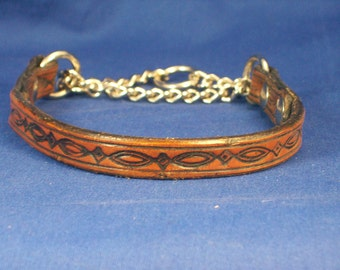 Leather Martingale Dog Collar - Small