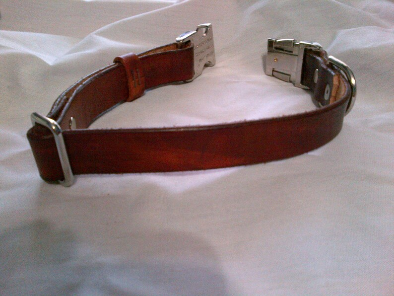 Adjustable Leather Dog Collar with Side Release Buckle  image 0