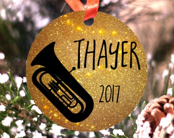 Personalized Tuba Musician Band or Marching Band Ornament