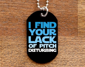 Lack of Pitch Funny Dog Tag Necklace for Marching Band Geeks