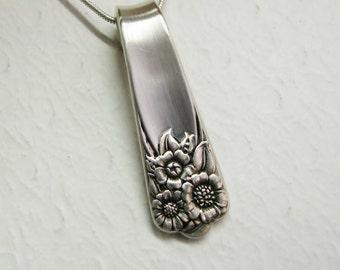 Spoon Necklace, Spoon Pendant, 'April' 1950, Sunflower Necklace