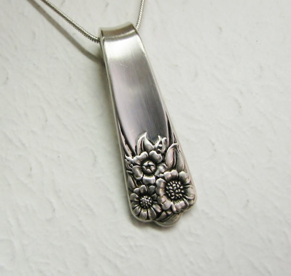 Spoon Necklace, Spoon Pendant, 'April' 1950, Sunflower Necklace