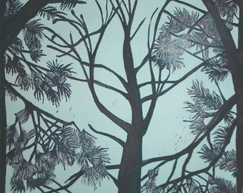 Pine Trees (hand colored)