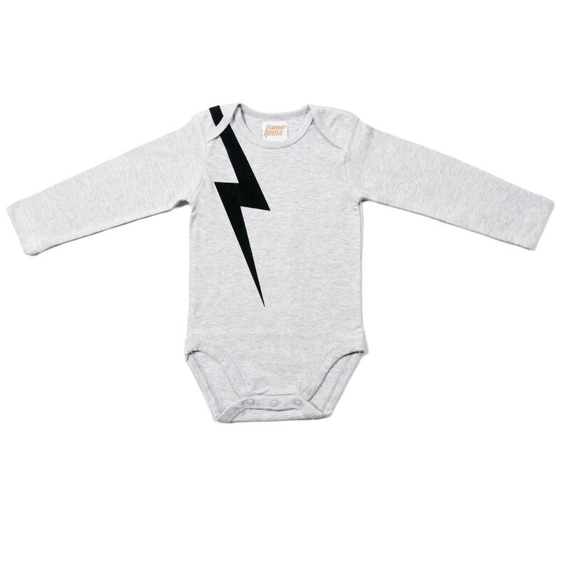 And there was lightning  Organic Long Sleeve Onesie. Organic image 0