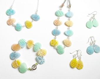 Easter Egg Earrings- green, blue, or yellow