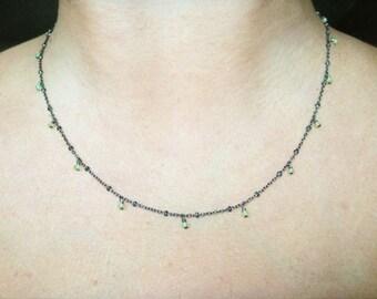 Tiny Peridot Necklace