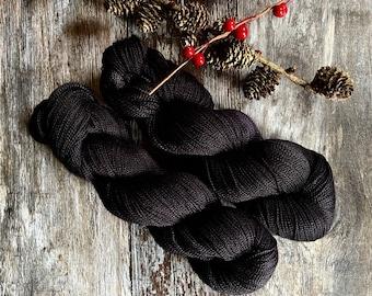 Black Night.  Aurora Pure Silk Heavy Lace.
