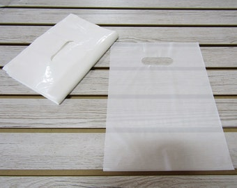 100 White Plastic Merchandise Bags (9 x 12 in.) - FREE SHIPPING