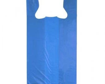 Blue T-Shirt Bags 100 Count