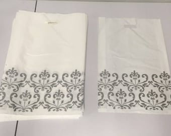 100PCS Large 21X14 Silver Design Bags