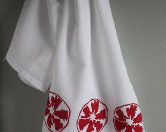 Pomegranate Kitchen Towel Hand Screened