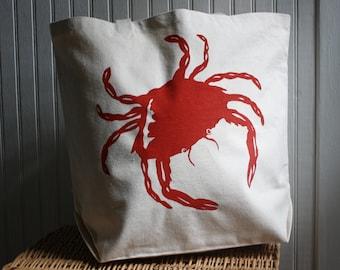 Crab Tote Bag Hand Screened