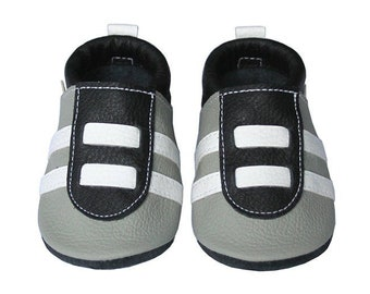 Leather Baby Booties, Sport Baby Shoes, Sporty Infant, Newborn, Nursery, Children, Sports Baby Shower, Sporty Soft Soled, Sporty Boy