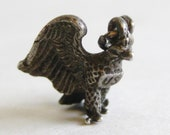 Vintage 40s US Army Air Corps Pilot Aviator Sterling Silver 3D Eagle Sweet Heart Bracelet Charm