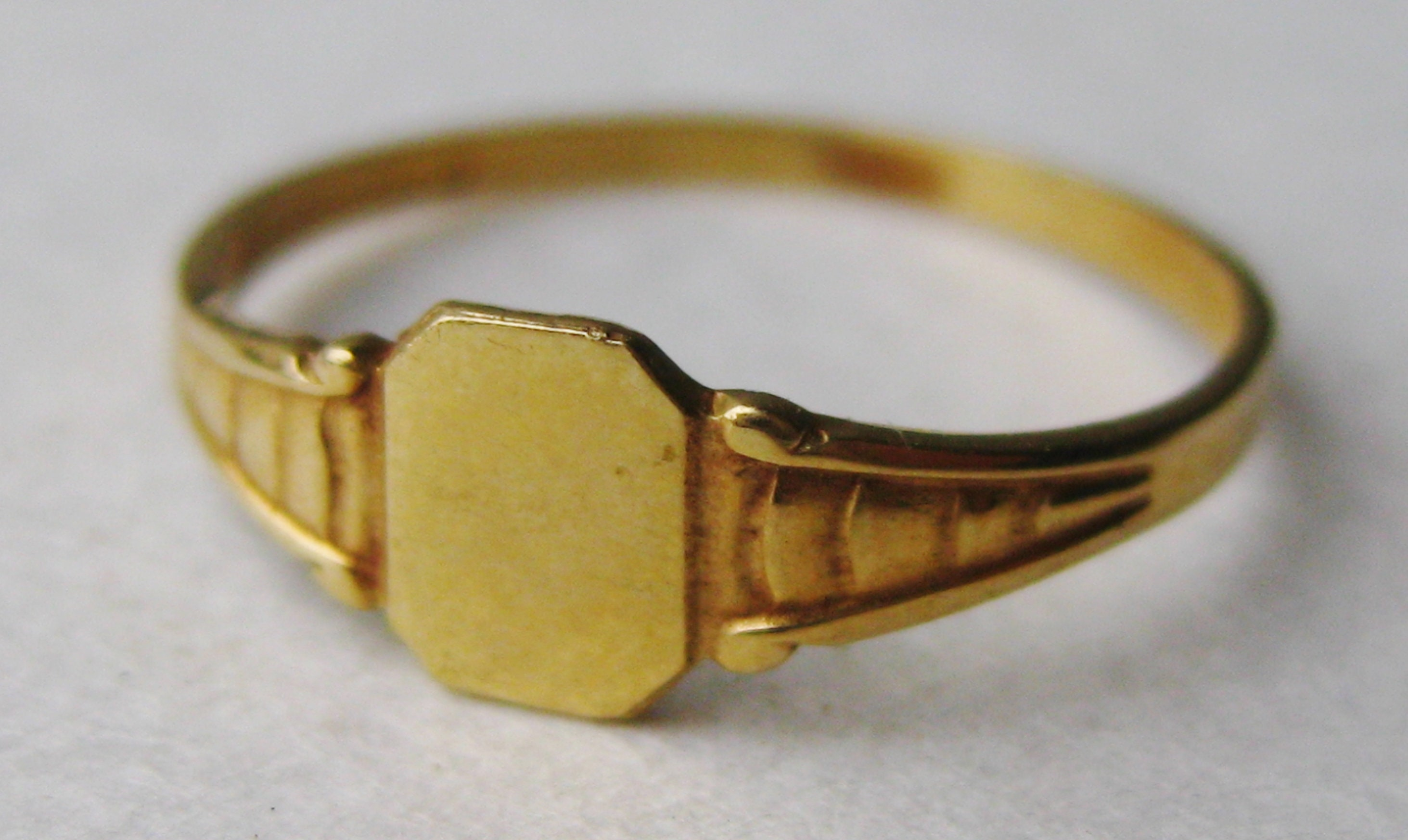Vintage 14k Gold Baby Ring Infant Band Ring Size 2 Etsy