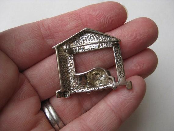 Vintage Sterling Silver Brutus Dog House Novelty … - image 5