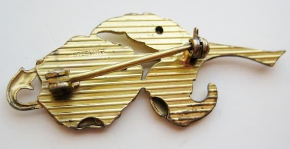 Vintage 40s Gold Vermeil Sterling Silver Pansy Fl… - image 4