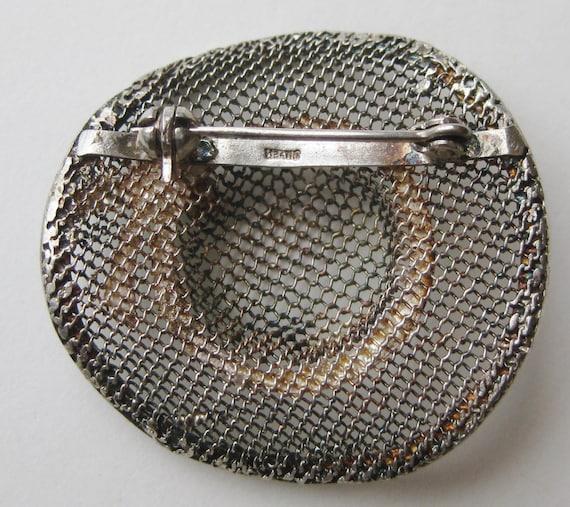 Vintage Sterling Silver Enamel Novelty Sun Hat Fi… - image 4