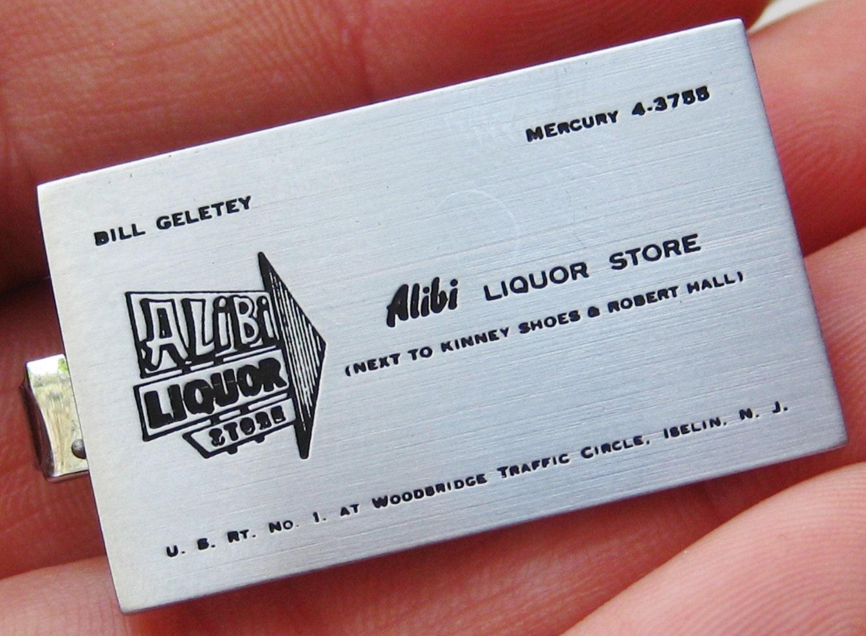 Vintage Alibi Liquor Store Iselin New Jersey Advertising Promo Tie