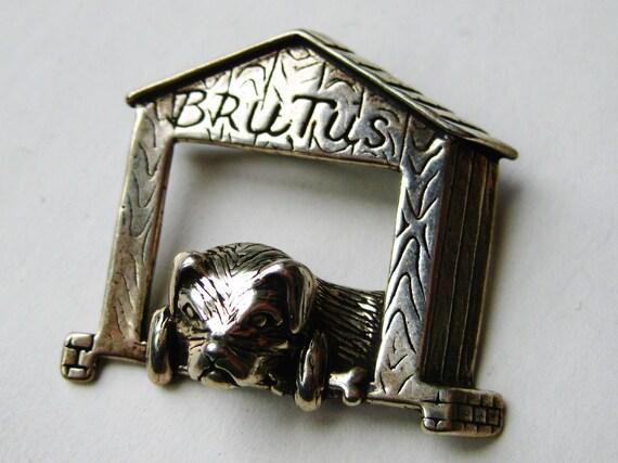 Vintage Sterling Silver Brutus Dog House Novelty … - image 6