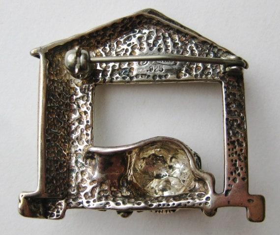 Vintage Sterling Silver Brutus Dog House Novelty … - image 2