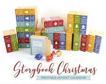 Advent Calendar | Print and Make | Story Book Style Paper Boxes | Countdown to Christmas | Instant Download PDF