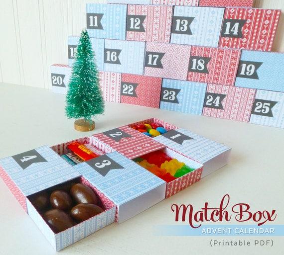 Advent Calendar Printable Countdown to Christmas Scandi