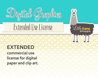 Extended Commercial Use License for Digital Paper Packs and Clip Art Sets