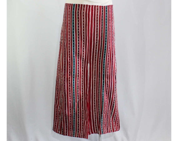 Men's Mens Gaucho Cowboy Saltillo Trousers Green Large 40s 50886 Red Chimayo Western Blue 1940s Cotton Handwoven Late Like Pants 50s AC4qdw